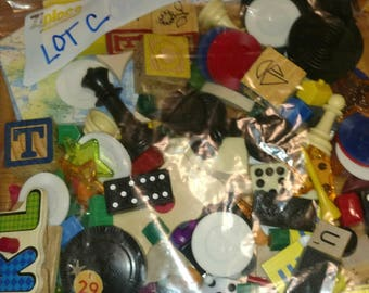 one pound toy game peace token junk drawer Lot C