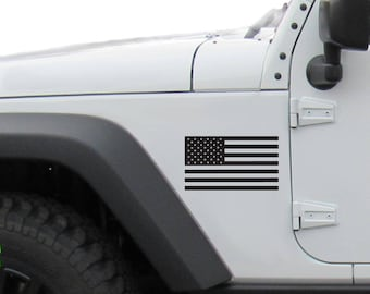 US Flag set for right and left side of vehical. 5 x 2.75 in.