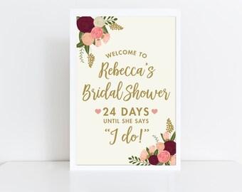 Bridal Shower Sign  Welcome Sign  Wedding Welcome Sign  Bridal Shower  Welcome Bridal Shower Sign  Vintage Bridal Shower