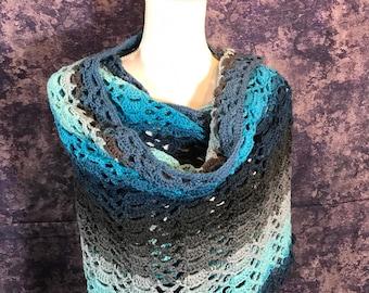 Succulent Garden Wrap, shawl, scarf