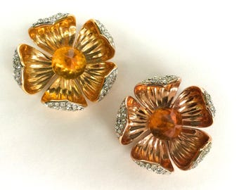 Flower Brooches by Joan Rivers Set of Two