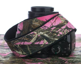 dSLR Camera Strap, Pink Camo, Camouflage, SLR, Canon camera strap, Nikon camera strap, Pentax, Sony etc, Mirrorless camera, 245