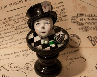 Small Original Mad Hatter miniature sculpture by Spinestealer