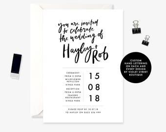 Printable Modern Wedding Invitation, You Are Invited Invitation, Wedding Invitation, Printable Invite, Hand Lettering, Invitation, Printable