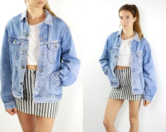 Vintage Denim Jacket Vintage Jean Jacket Blue Denim Jacket Oversize Denim Jacket Oversize Jean Jacket Grunge Denim Jacket Large Jean Jacket