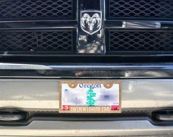 Custom Wood License Plate Brackets (pair)