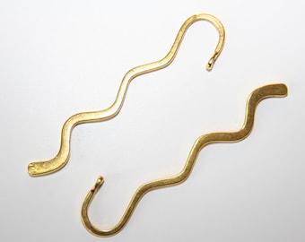 2 PCs.  bookmark blanks / metal bookmark / antique gold tone / 80 mm  LZ18