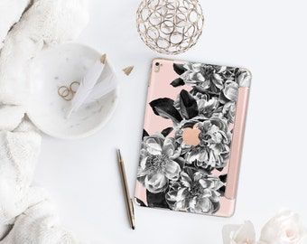 iPad Case . iPad Pro 10.5 . n Black Rose Quartz with Rose Gold Smart Cover Hard Case for  iPad mini 4  iPad Pro  New iPad 9.7 2017