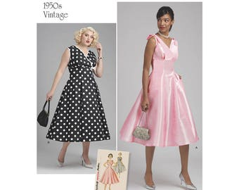 Simplicity Sewing Pattern 8592 Misses' and Women's Vintage Dress