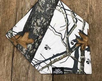 Winter Mossy Oak Camo Bandana Face Mask