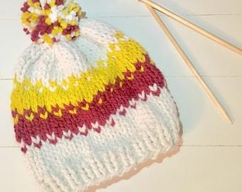 Mens Fair Isle Beanie, Fair Isle Hat, Winter Hats for Men, Winter Hat Man, Man Winter Beanie, Man Knit Hat, Man Beanie, Present for Father