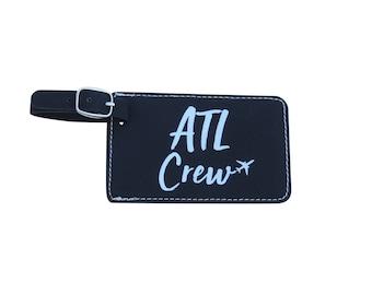 Atlanta Crew Base Bag Tag, Delta Crew Base Atlanta, Set of Two