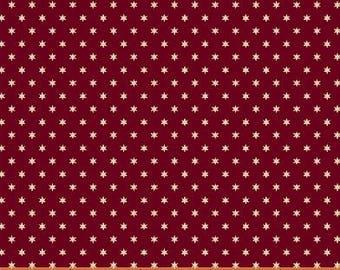 Windham Freedom Bound Star Red Cream Vintage Patriotic American Civil War 41978-2 Fabric BTY