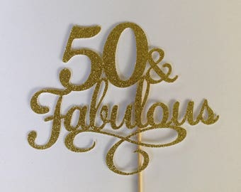50th birthday cake topper | Etsy