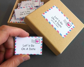 Romantic first paper anniversary gift like love coupons date