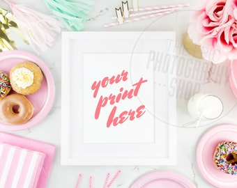 Print Background / Blank Frame / Styled Stock Photography / Product Photography / Staged Photography / Pink / Gold / Party / Cute / P001