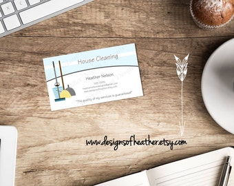 House Cleaning Digital Business Card