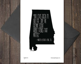 Martin Luther King Jr. Quote, 4x6