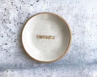 Namaste Dish//Ring Dish//Jewelry Dish// Ceramic Dish//Yoga//Bohemian Decor//Gift Ideas//Yoga Teacher