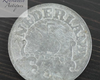 1941 coin 25 cents Netherland old gift
