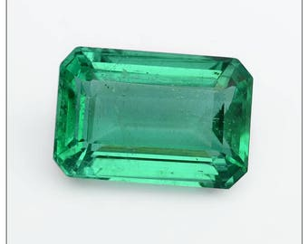 3.65-Carat Emerald Cut Octagon Shape Gemstone