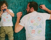 Dad and Baby Matching Shirts, Car Play Mat Shirts, Daddy Gift from Toddler, Gift for Him, Dad and Son Shirts, Car Track, Roads on Back