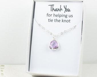 Lavender Silver Necklace, Bridesmaid Lavender Necklace, Purple and Silver Necklace, Purple Wedding Accessory, Lavender Bridesmaid Jewelry