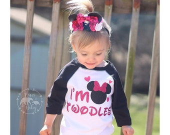 Baby Girls Twodles Shirt, I'm Twodles, Mouse Birthday Shirt, 2nd Birthday, Twodles Raglan, Mouse Raglan, Mouse Birthday Outfit