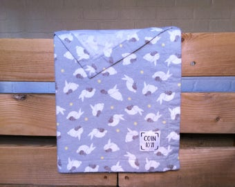 RABBITS / / single layer flannel baby blanket