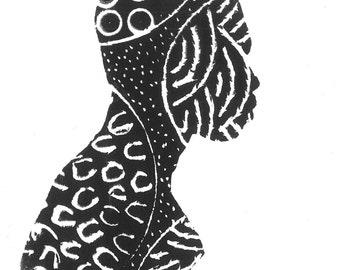 Seeds Print Set - Choose 2 Prints - Art / Wall Art / Lino Print / Poster/ African Art / Tribal Art / Printmaking/Afrocentric / Black Art