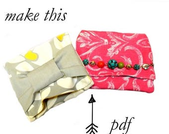 50% OFF SALE Cosmetic Bag PDF Sewing Pattern, Makeup Bag, Clutch sewing pattern, Purse Sewing Pattern, Easy, Simple, Quick