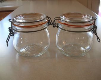 Vintage Le Parfait Super Glass French Canning Jars Made in France