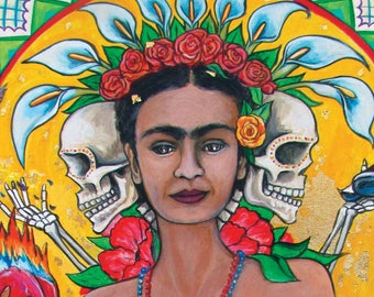 The Life and Death of Frida Kahlo-PRINT