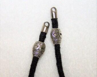 Silver Skulls Eyeglass Chain, Eyeglass Necklace, Eyeglass Holder