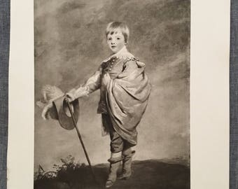 Reynolds. Duke of Gloucester. 1920's antique print