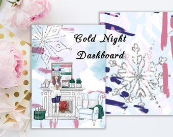 Cold Night | Travelers notebook Dashboard | Skin Tone Options Available
