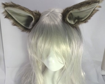 6 COLOURS Wolf ears extra large hair clip fox wolf husky cosplay posable festival rave wolf ear hair clips