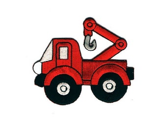 Tow Truck - Truck - Mechanic - Vehicle - Embroidered Iron On Patch - Uniforms