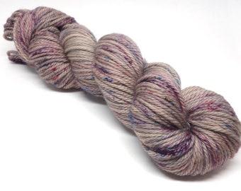 Merino SW Aran / 12ply Hand Dyed Yarn -  Koala Speckle