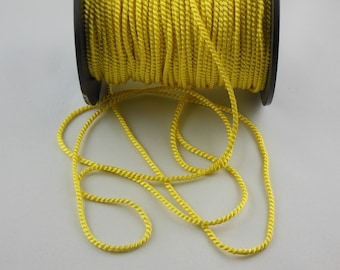 Soutache yellow twisted cord