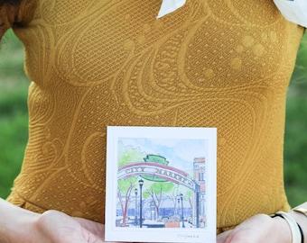 Gouache Kansas City Market Print Card