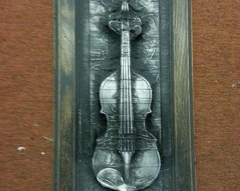 Haunted Violin in Carbonite *Original Sculpture