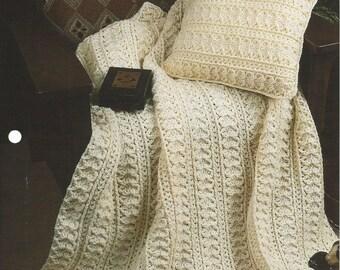 Welcome Home Crochet Afghan Blanket Pattern, Bedspread, Crochet Pillow, Home Decor, Sofa Throw, Bedding, Annie's Crochet Quilt