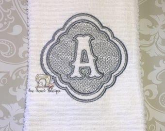 initial kitchen handtowel, hand towel, kitchen towel, shower gift, wedding gift