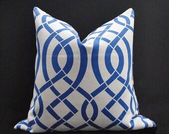 Outdoor pillow cover, Blue Grey pillow, Geometric Pillow covers,  Indoor Outdoor cushion cover