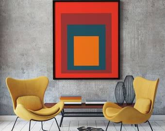 Modern Abstract Print Modern Poster Abstract Poster Peach Wall Art Peach Decor Giant Poster Large Poster (sizes up to 24 x 36) S1