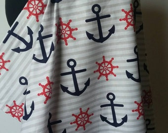 Nursing Cover, Breastfeeding Feeding Cover up, Nursing cover up, Navy Anchor Breastfeeding Cover, Nuatical