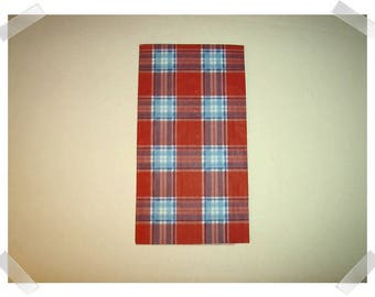 Paper Napkins for Decoupage- Red, White, Blue Plaid Design/Single Or Set of 2 OR Set of 4 /Craft Supplies**