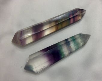 2 Gorgeous, Double Terminated, High Grade, Flourite Crystals 87 grams!!!