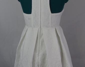 sleeveless white dress by lulu's